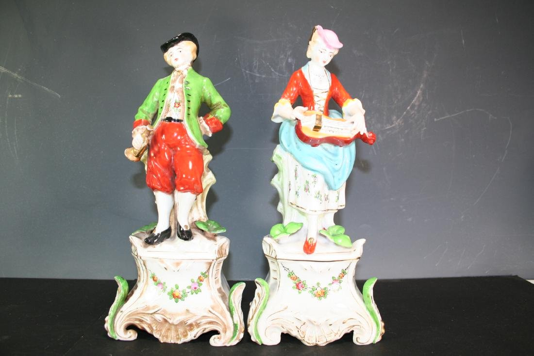 Pair of Porcelain Figurines of Musicians
