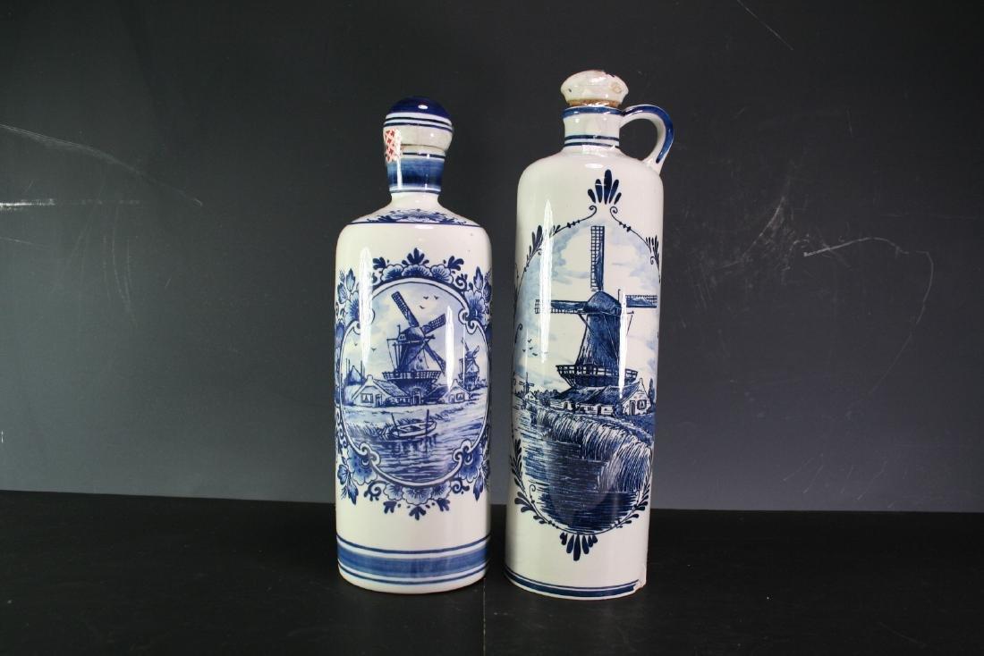 Group of Two Porcelain Wine Bottles