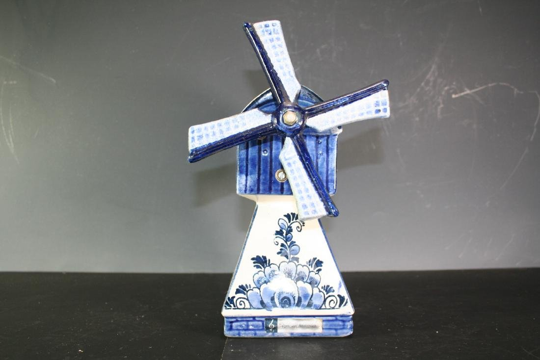 Porcelain Windmill Music Box