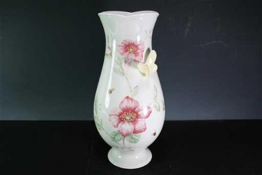 Porcelain Vase By Lenox Butterfly Meadow