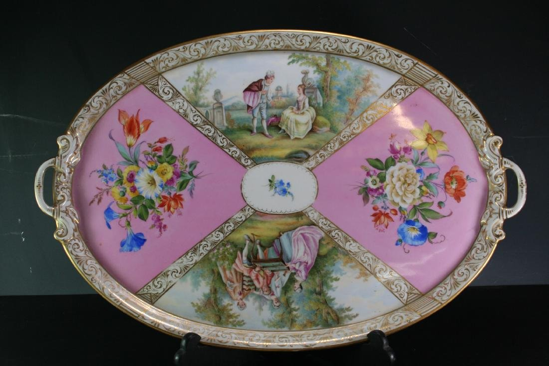 Meissen Gilt Large  Porcelain Plate / Tray