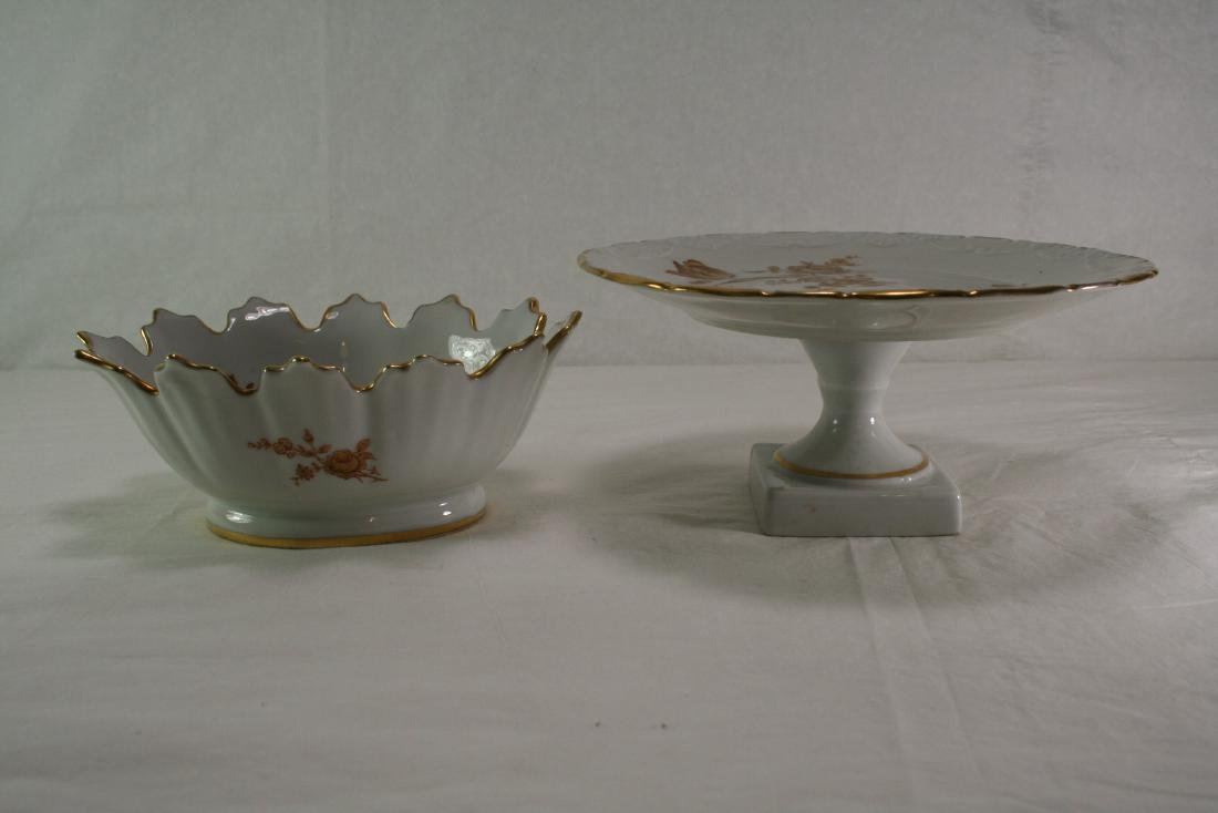 Group of Two Gilt Porcelain Items