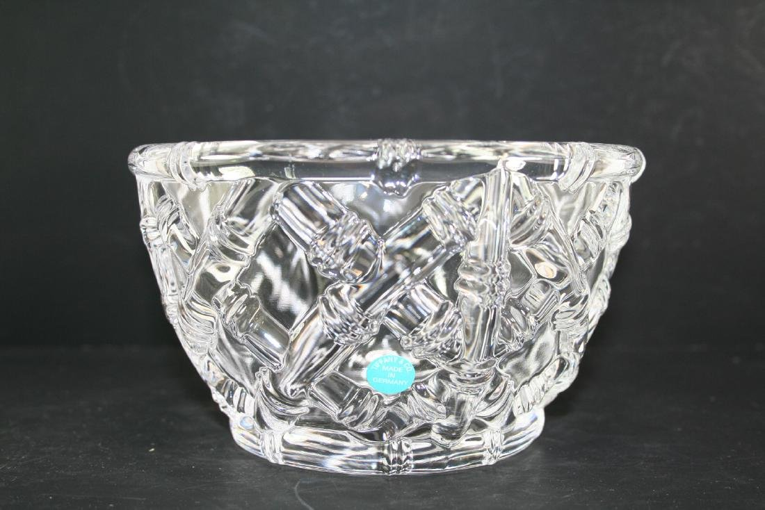 Tiffany & Co. Woven Basket Glass Bowl