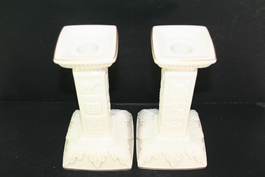 Pair of Lenox Porcelain Candle holders