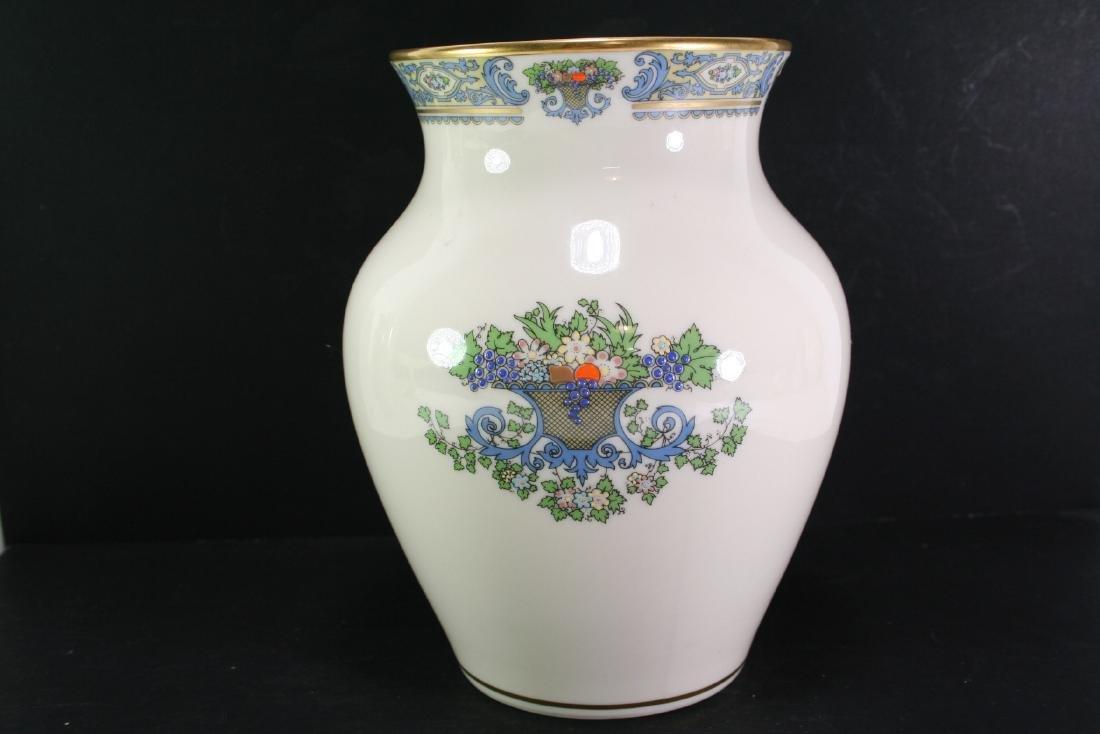 Lenox Gilt Famille Rose Vase