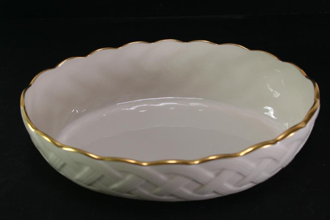 Lenox Gilt Oval Shaped Woven Basket Plate