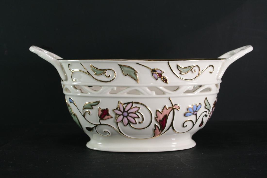 Lenox Gilt Porcelain Handled Basket