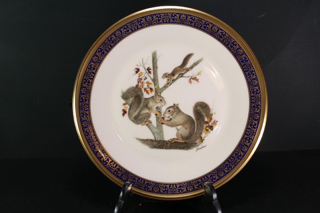 """Lenox Gilt Porcelain Dish """"Woodland Wildlife"""""""