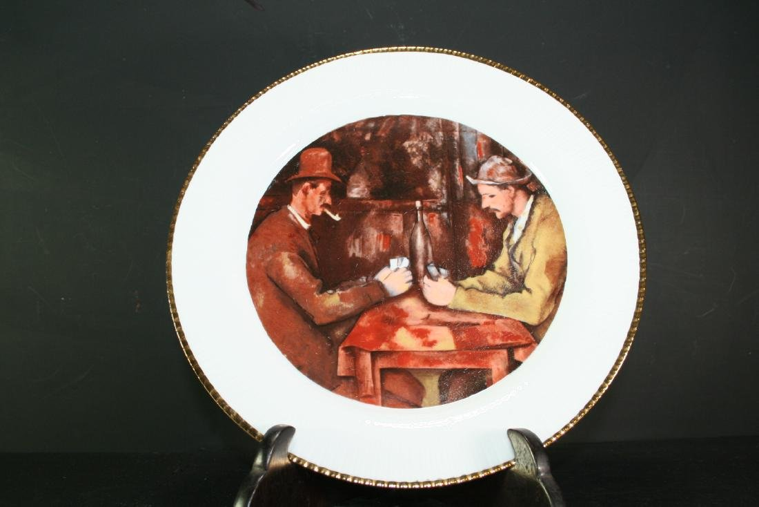 German Color Painted Gilded Plate