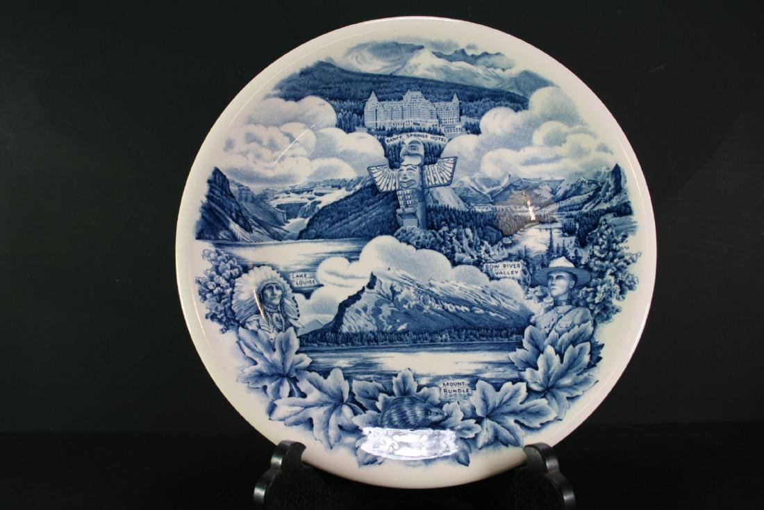 Hand Painted Blue and White Porcelain Plate
