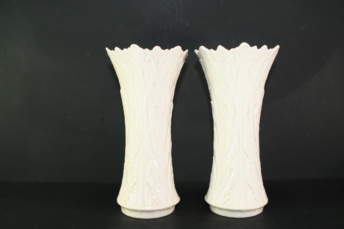 Pair of Lenox Porcelain Vases