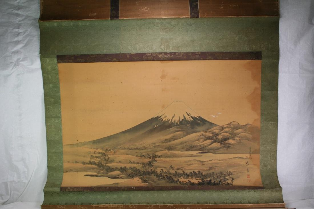 Asian Black Ink Scroll Painting