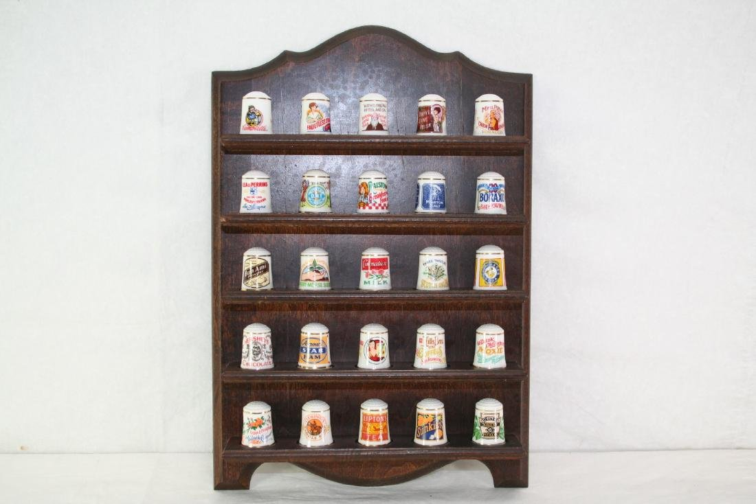 Set of 25 Pcs Porcelain Trade Mark Bells and Display