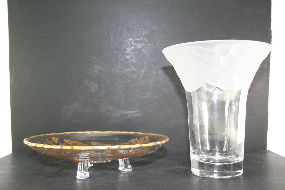 Group of Two Glass Items