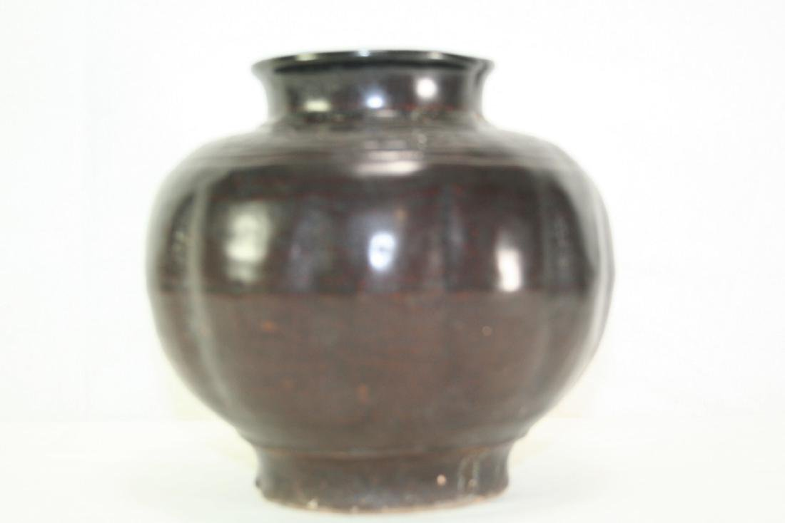 Black Glazed Jar