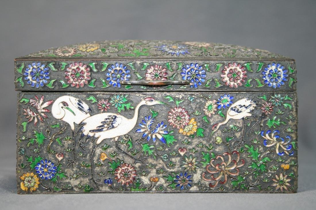 Chinese Enamel on Copper Box