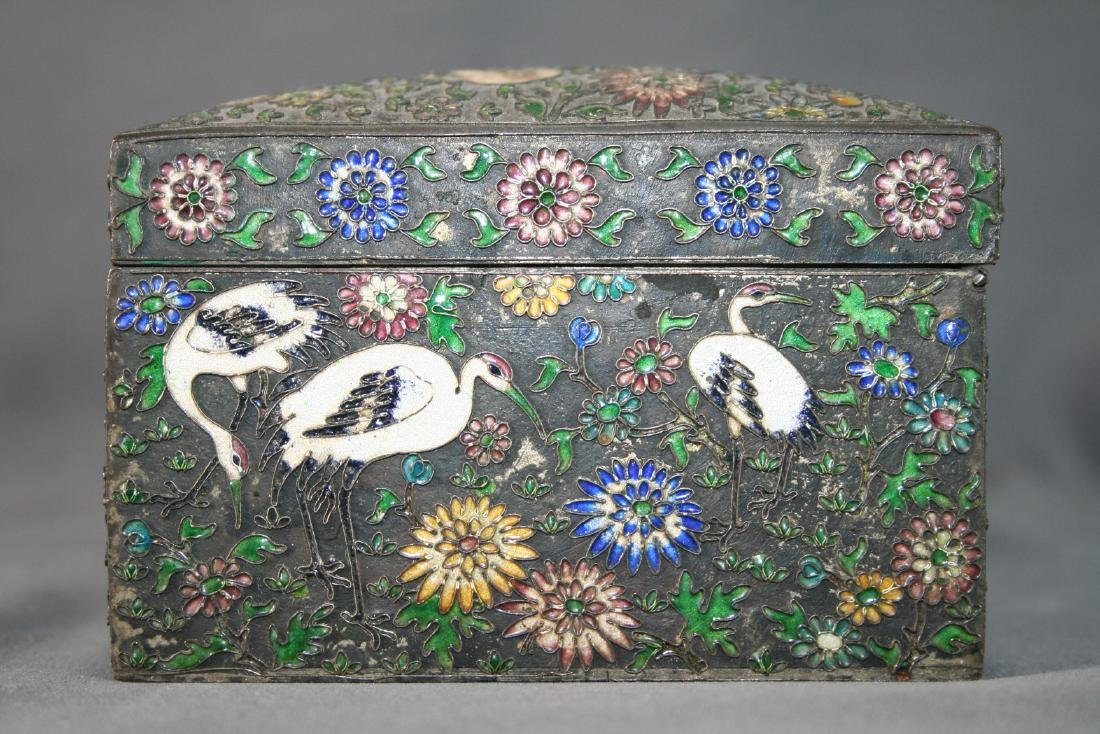 Chinese Enamel on Copper Box - 2