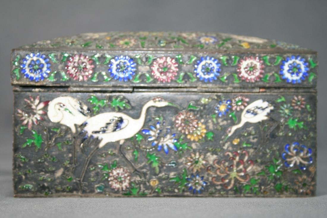 Chinese Enamel on Copper Box - 3