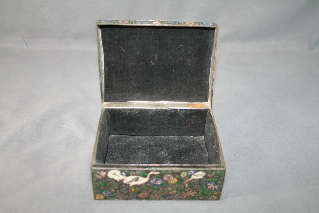 Chinese Enamel on Copper Box - 7