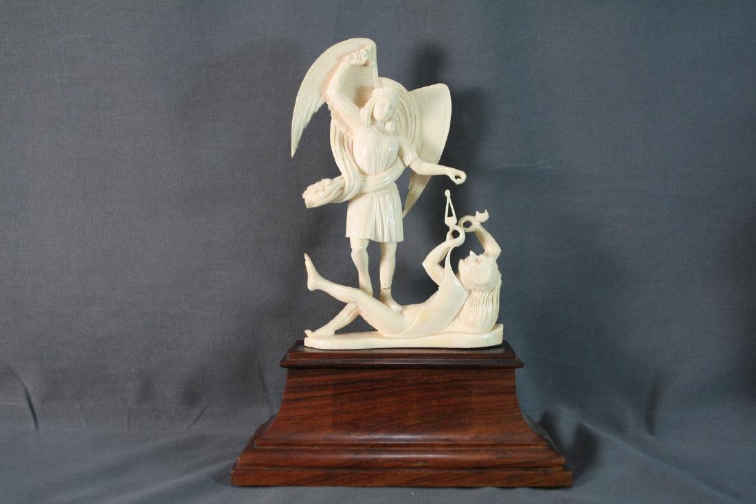 Bone Carved Religious Figures