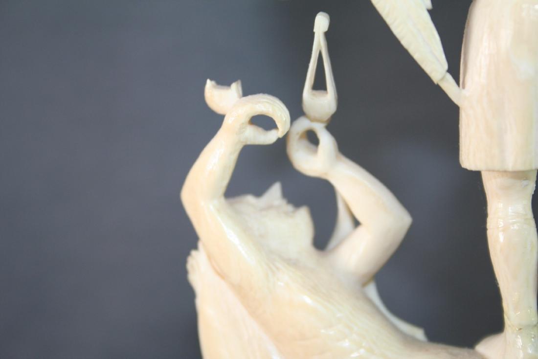 Bone Carved Religious Figures - 8