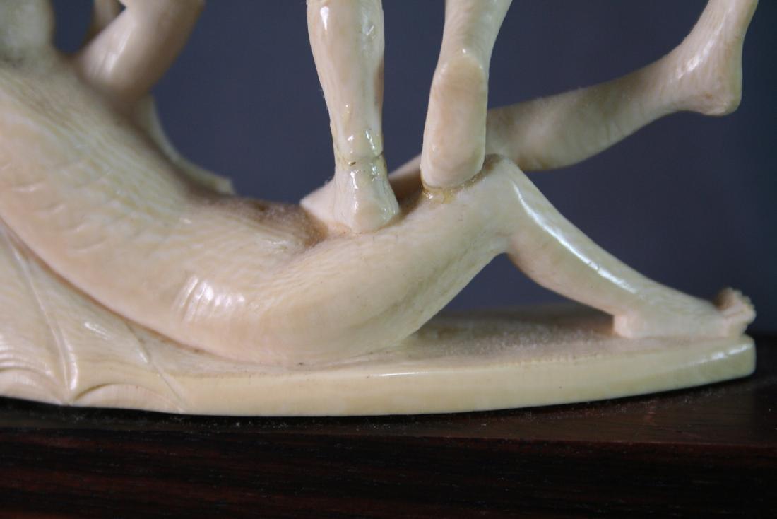 Bone Carved Religious Figures - 9