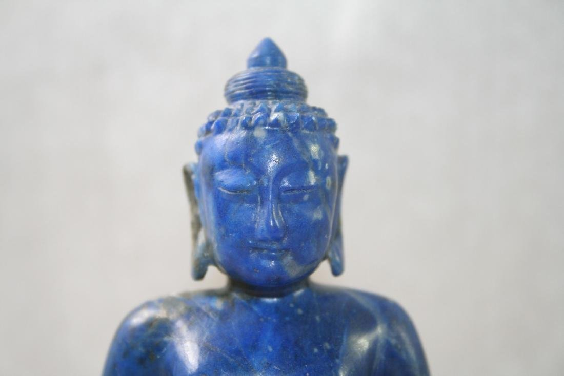 Asian Lapis Caved Buddha Statue - 6