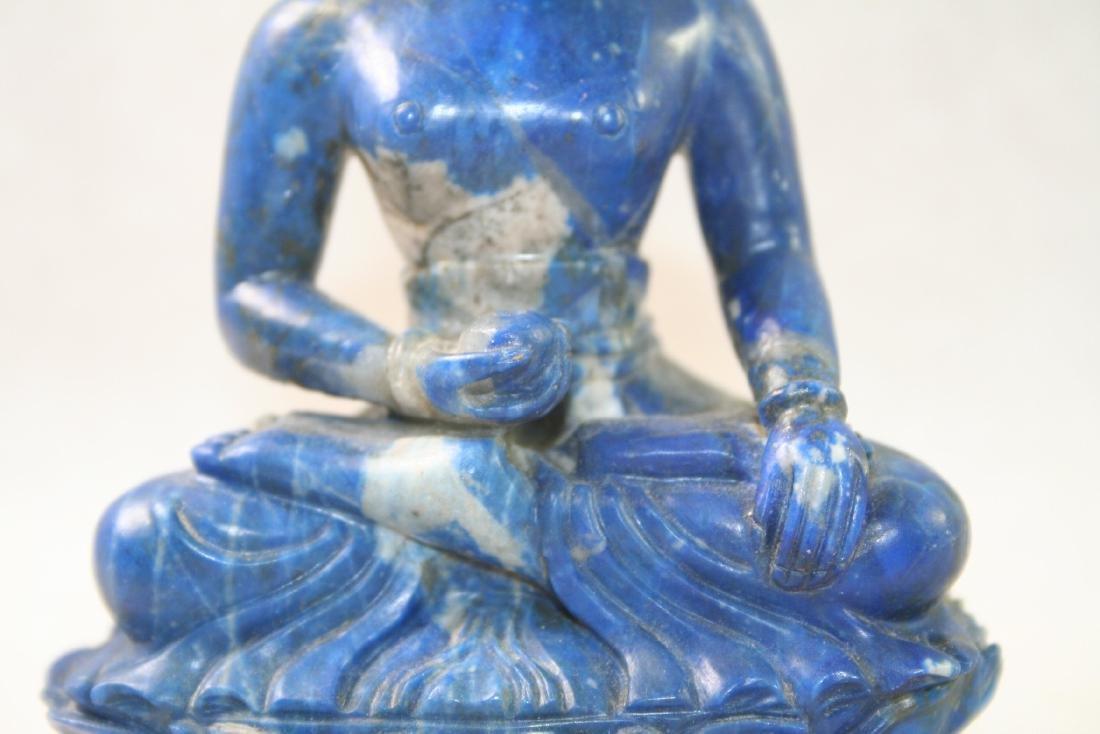 Asian Lapis Caved Buddha Statue - 7