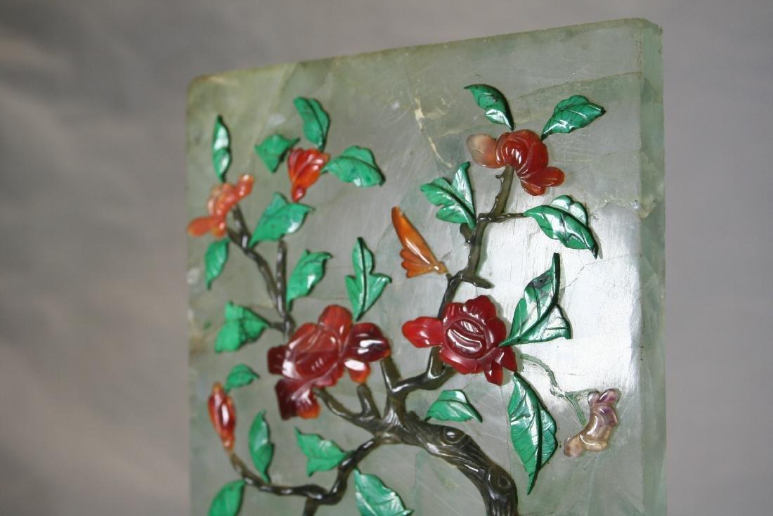 Chinese Semi-Precious Stone Screen Panel - 5