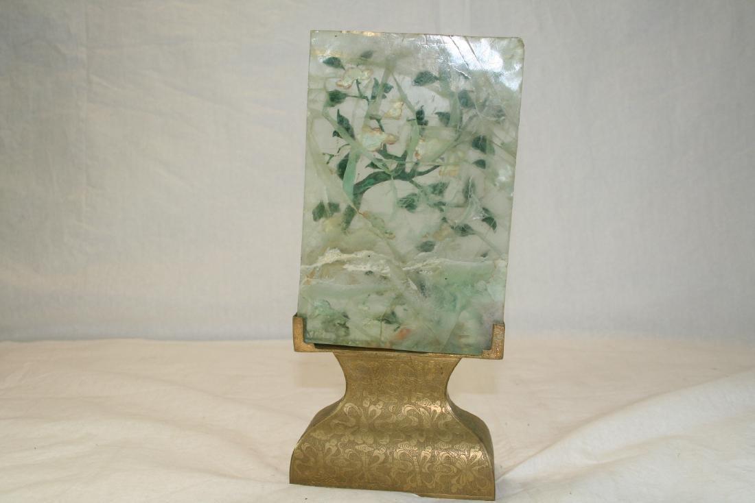 Chinese Semi-Precious Stone Screen Panel - 8