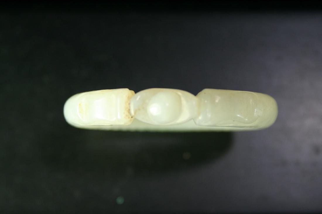 Chinese Jade Bangle Bracelet - 4