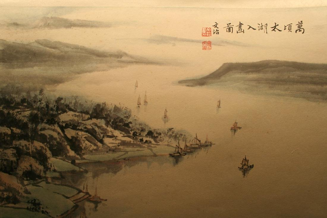 Chinese Hanging Scroll Ink on Paper Painting - 2