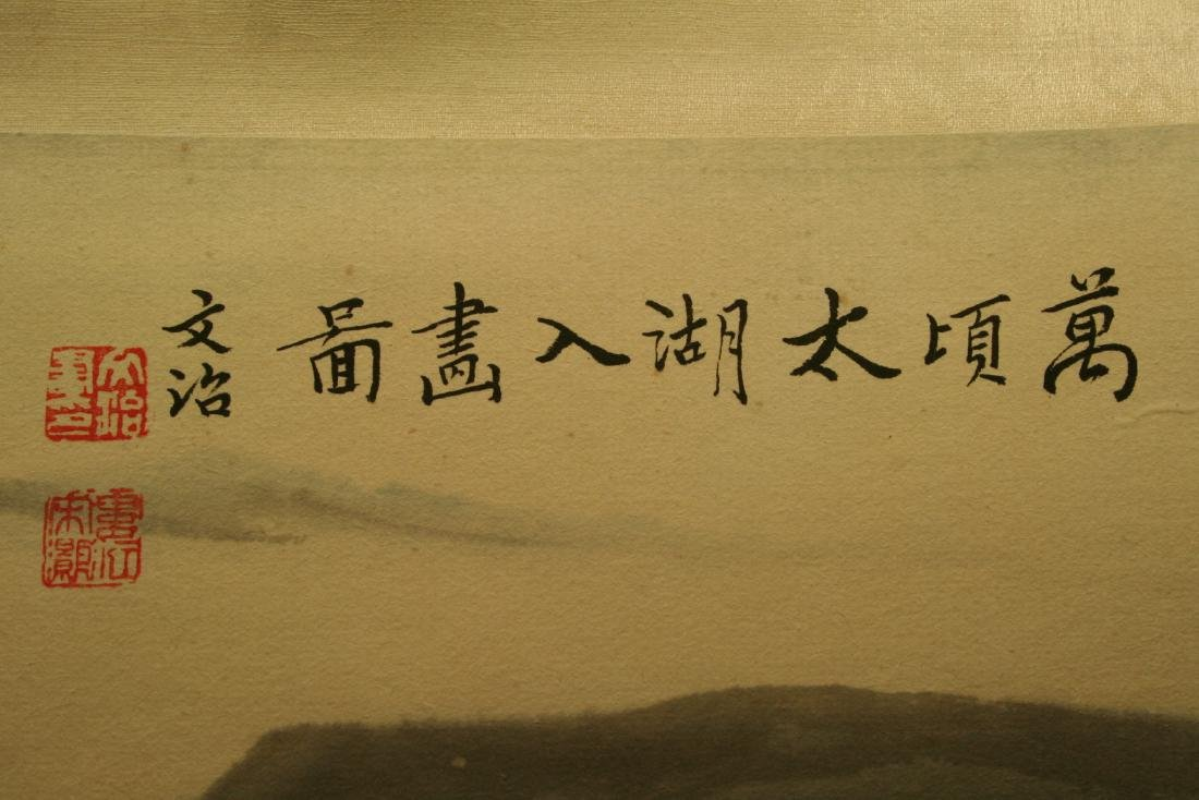 Chinese Hanging Scroll Ink on Paper Painting - 6