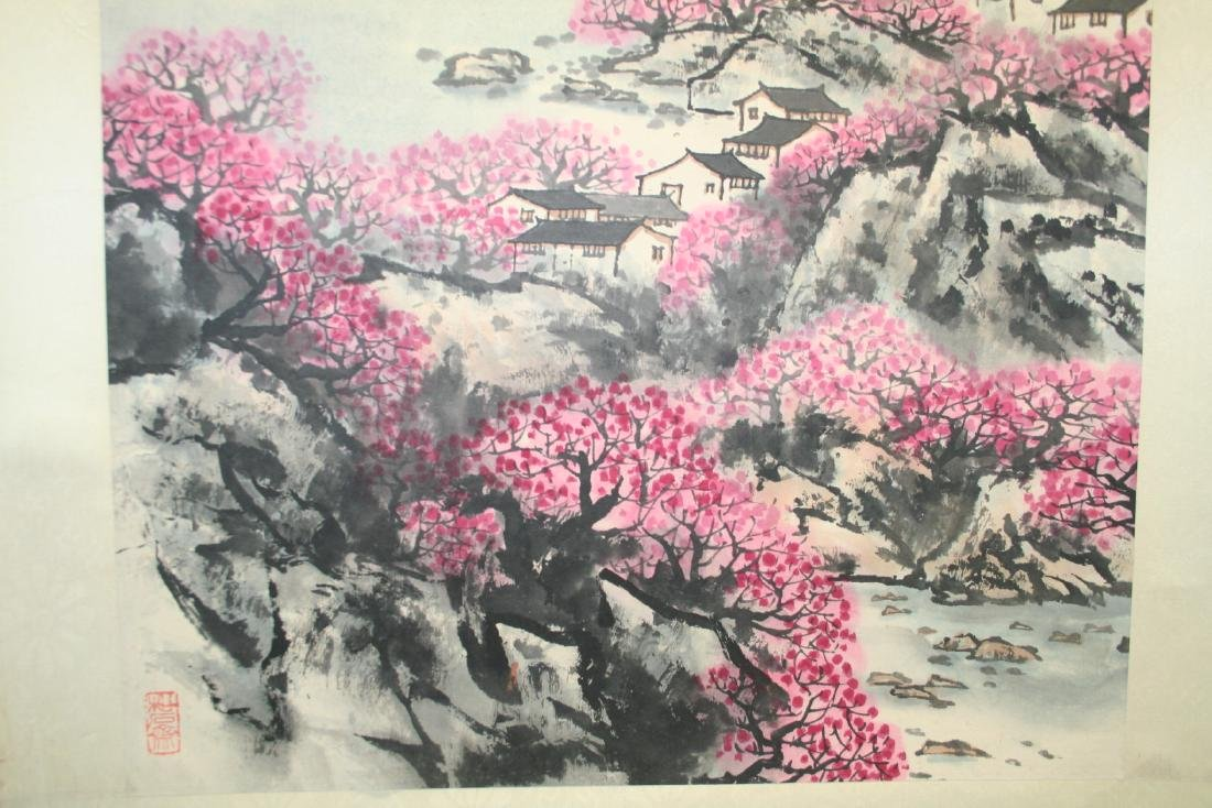 Chinese Hanging Scroll Ink on Paper Painting - 8