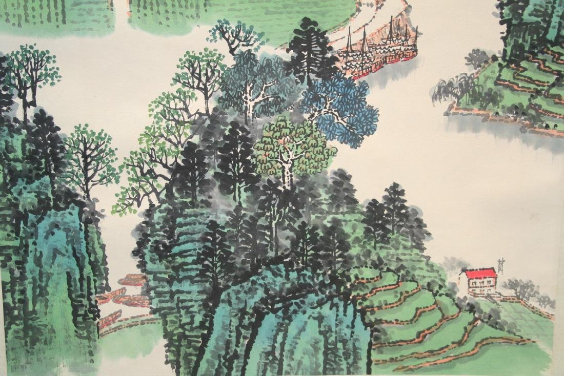 Chinese Hanging Scroll Ink on Paper Painting - 10