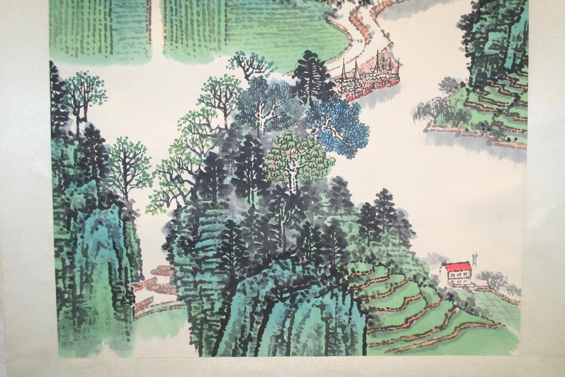 Chinese Hanging Scroll Ink on Paper Painting - 4
