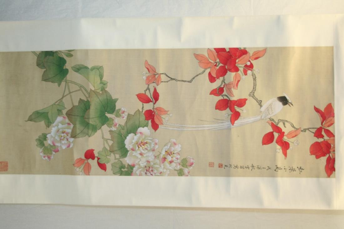 Chinese Hanging Scroll Water Color on Paper Painting - 2