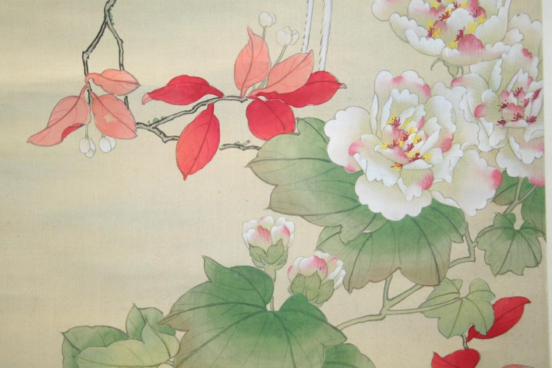 Chinese Hanging Scroll Water Color on Paper Painting - 5