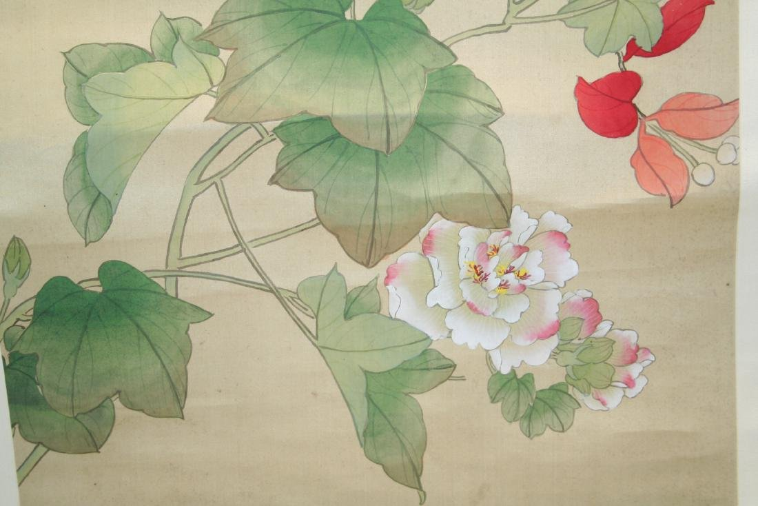 Chinese Hanging Scroll Water Color on Paper Painting - 6