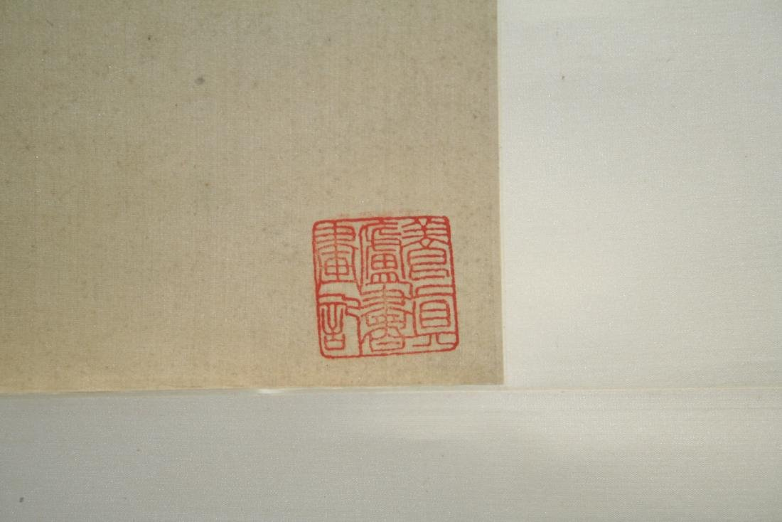 Chinese Hanging Scroll Water Color on Paper Painting - 9