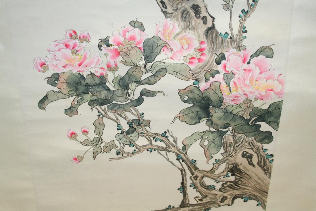 Chinese Hanging Scroll Water Color on Paper Painting - 10