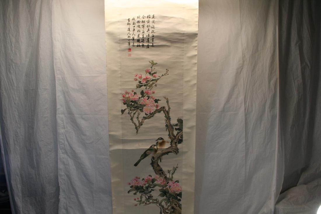 Chinese Hanging Scroll Water Color on Paper Painting