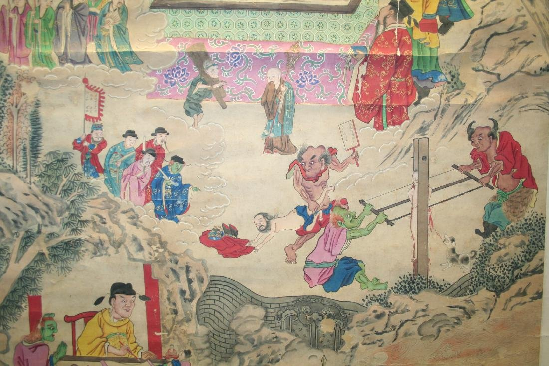 Chinese Hanging Scroll Ink on Paper Painting - 5