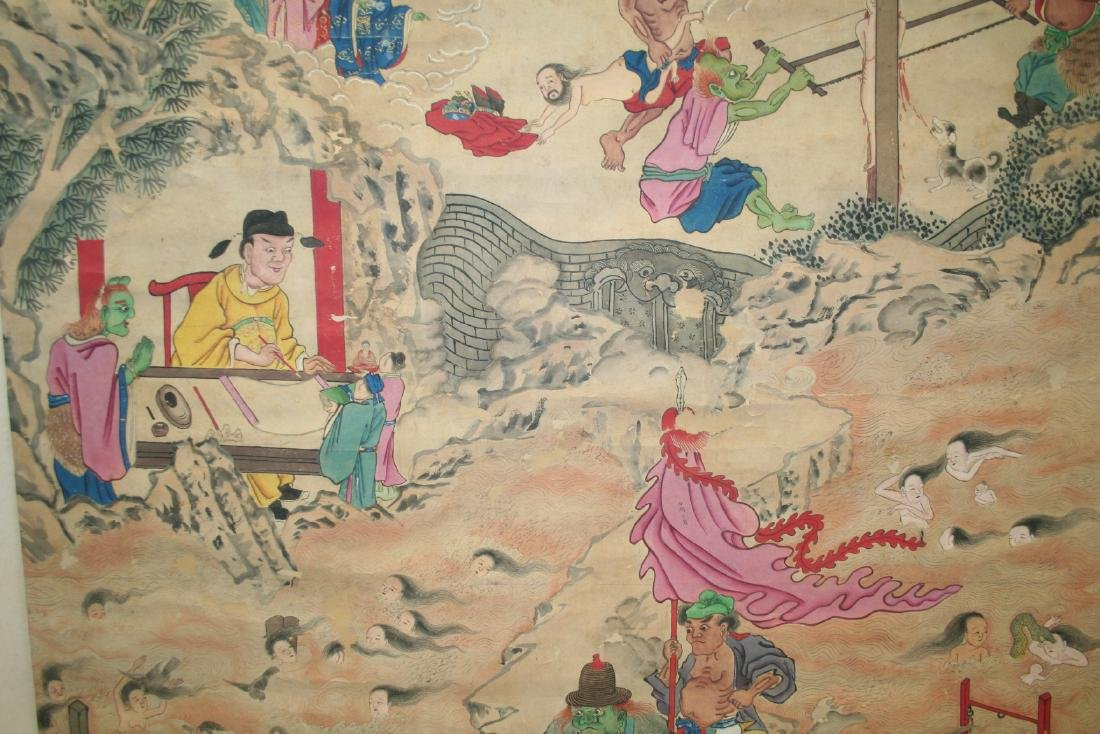 Chinese Hanging Scroll Ink on Paper Painting - 7