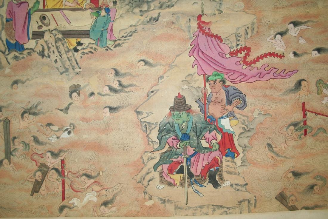 Chinese Hanging Scroll Ink on Paper Painting - 9