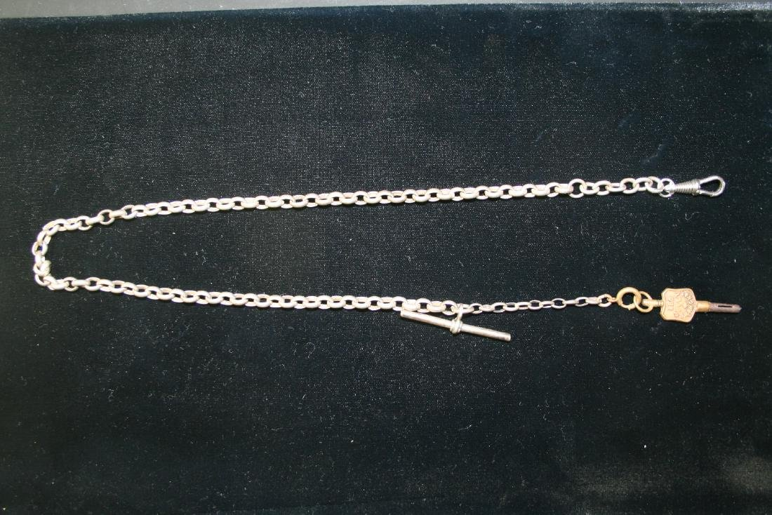 Silver Pocket Watch Chain