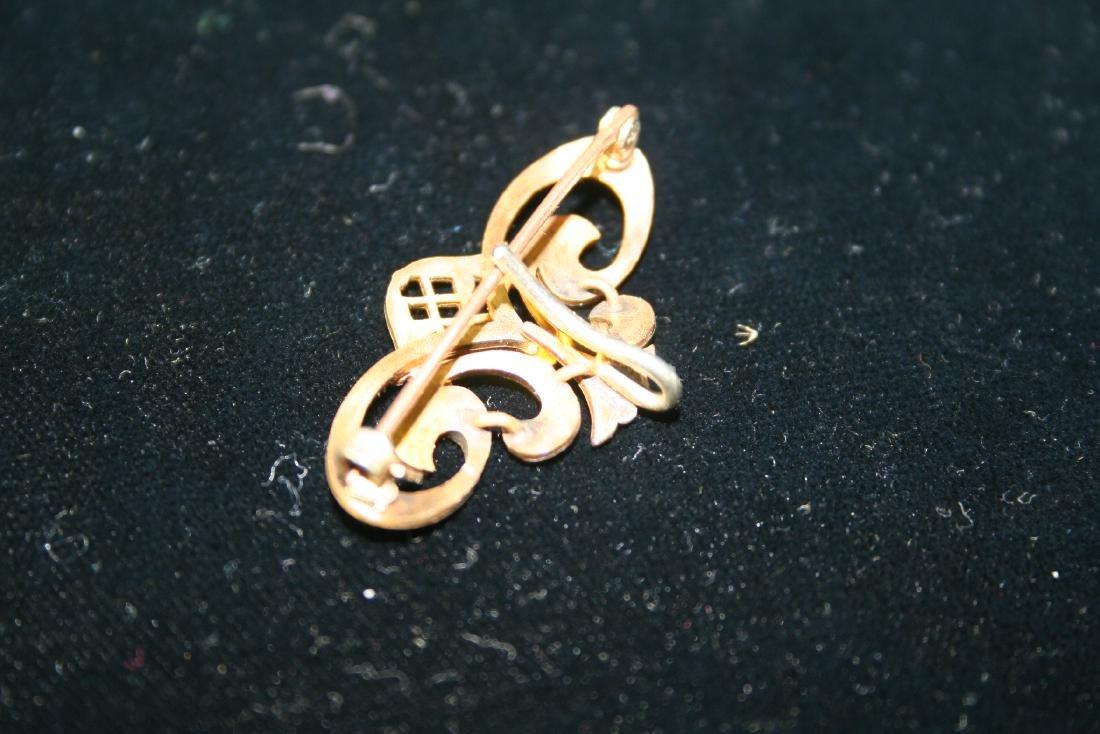 Gold Tone Brooch - 3