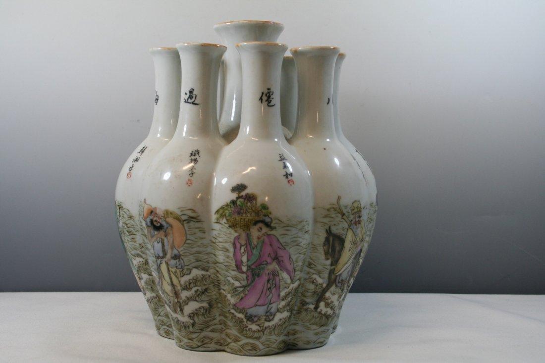 Chinese Porcelain Nine Tubular Vase