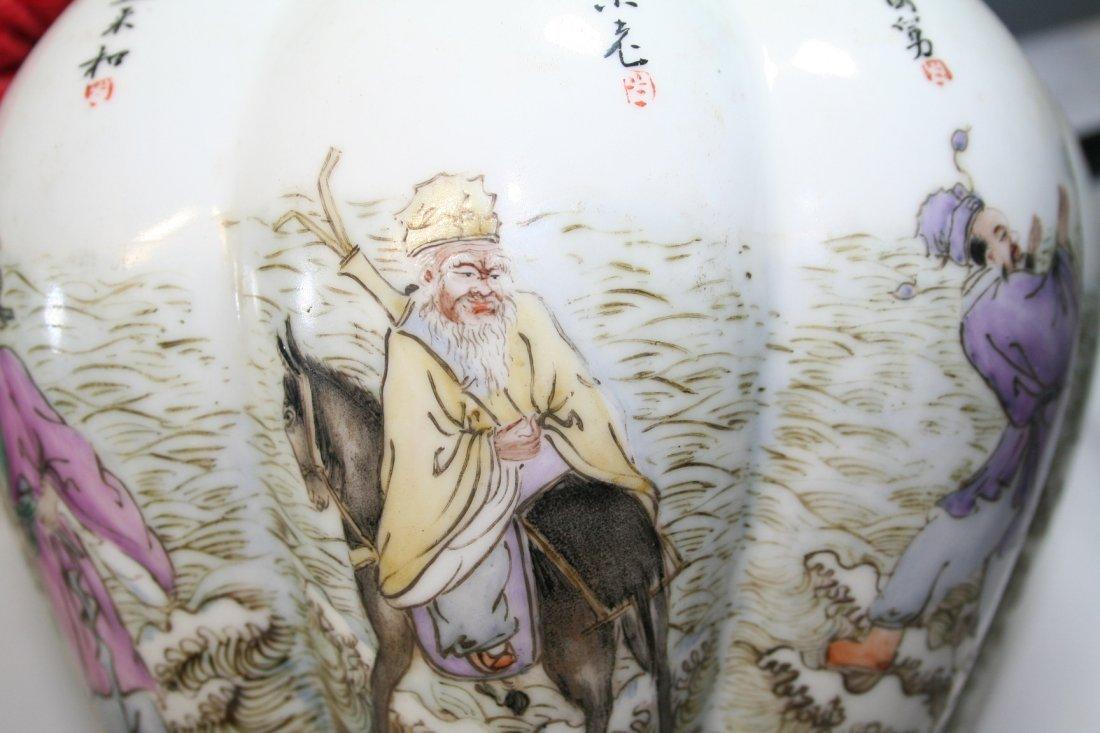 Chinese Porcelain Nine Tubular Vase - 5