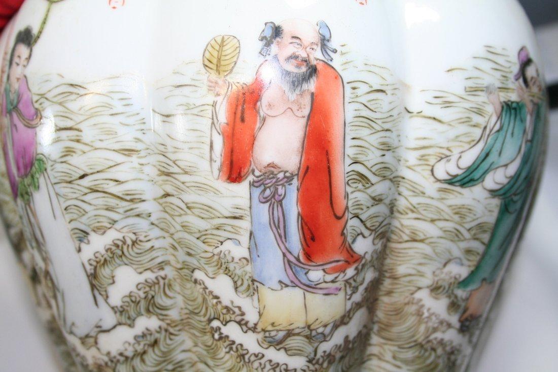 Chinese Porcelain Nine Tubular Vase - 6
